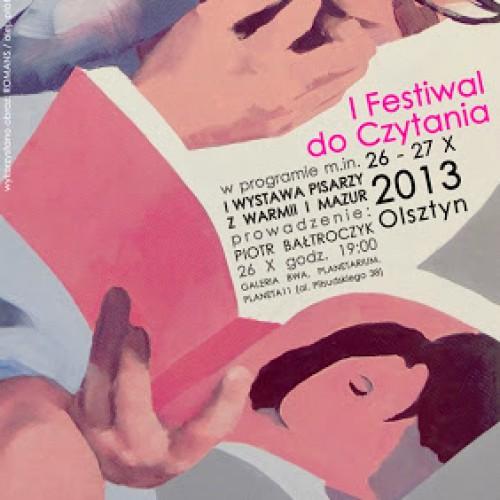 I Festiwal do Czytania już w najbliższą sobotę