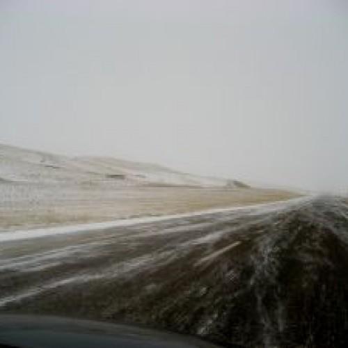 Trudne warunki drogowe w regionie