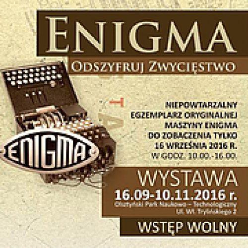 """""""Enigma"""" do zobaczenia w Olsztynie przez jeden dzień"""