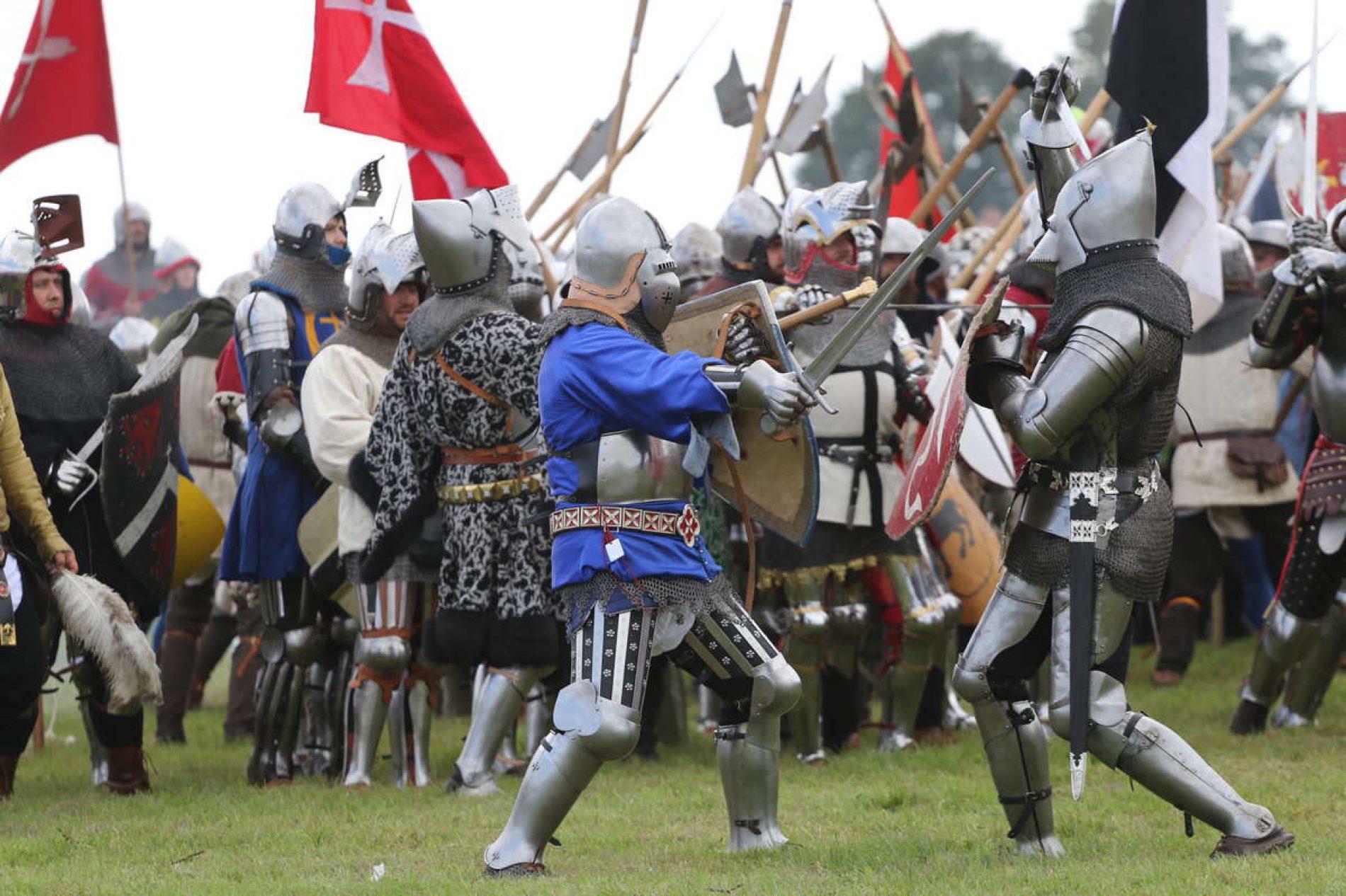 Na polach Grunwaldu odbyła się inscenizacja bitwy z 1410 roku