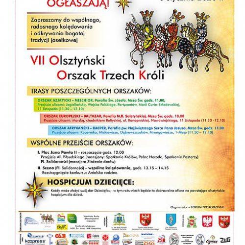 Ulicami Olsztyna przejdzie orszak Trzech Króli
